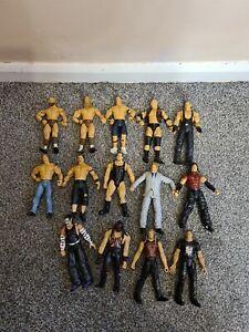 WWE WWF JAKKS Pacific Wrestling Figures Job Lot Bundle, Plus Accessories, Used