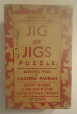 1930s Maxfield Parrish Original Puzzle Box, Jig of Jigs #1 Queen's Page BOX ONLY