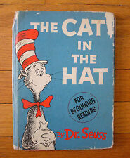 The Cat in the by Hat Dr Seuss Single Signature 1st Edition Early Print