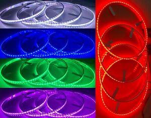 "Multiple Color Shifting Illuminated LED Wheel Rim Ring Light for Car Truck 15.5"""