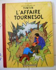 Tintin L'Affaire Tournesol HERGE- EO- éd Casterman18B19 1956  Belge