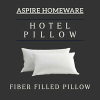 Pack of 2 Luxury Pillows Super Bounce Hollow Fiber  Filled Hotel Pillow