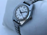 Timex Electric Ladies Watch Vintage Rare Silver Tone Analog WristWatch Water Res