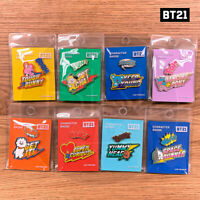 BTS BT21 Official Authentic Goods Metal Badge Wappen Ver 8SET by + Tracking Code