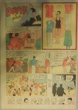 Boots Sunday Page with Uncut Paper Doll from 7/3/1938 Rare! Early Paper Doll
