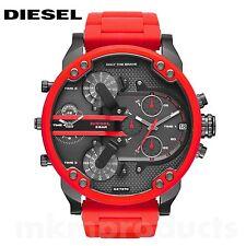 NEW Diesel Original DZ7370 Mr Daddy 2.0 Red Chronograph Watch 57mm