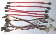 JobLot of SATA DATA CABLE & POWER ADAPTOR HARD DRIVE SERIAL ATA LEAD HDD