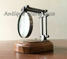 Antique Brass Magnifying Magnifiers Table Top Decorative Map Reader Glass Gift