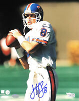 JEFF LEWIS BRONCOS HAND SIGNED AUTOGRAPHED 8X10 PHOTO WITH FANATICS COA 1