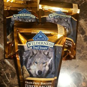 Blue Buffalo Wilderness Trail Grain Free Turkey Dog Treats (Pack Of 3) 10oz Each