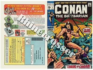 Conan the Barbarian #1 Beautiful Repro Cover Only w/Original Ads Jungle Marvel