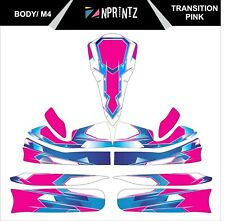 M4 TRANSITION PINK FULL KART STICKER KIT - KARTING - OTK - EVK M4