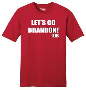 Mens Let's Go Brandon FJB Soft Tee Republican Anti Biden Political