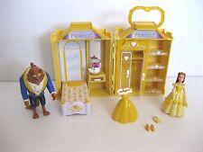 Disney Beauty & The Beast Belle Castle Playset Polly Pocket Wardrobe Figure Lot