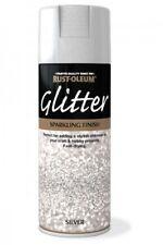 SILVER GLITTER SPARKLING FINISH RUST-OLEUM Fast Dry Spray Paint Aerosol 400ml