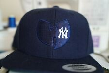 New York Yankees, Wu Tang, 90s Hip Hop, Rap, Baseball, Embroidered Snapback Hat