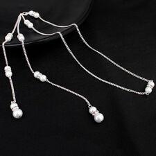 966e19e2f235 Collar de gota de espalda Collar Largo De Perlas de Imitación con Espalda  descubierta Vestido para accesorios