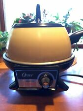 Vintage OSTER Electric Fondue Harvest Gold, Made in USA!  Very Good Condition.