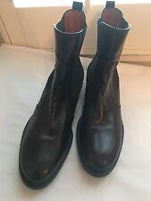 AURA By Lodi Black Leather Boots, Euro 41, Medium (B,M), Solid