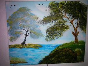 Manni Ludolf - Wald der Sinne 40cm x 50cm Acryl auf Leinwand (54)