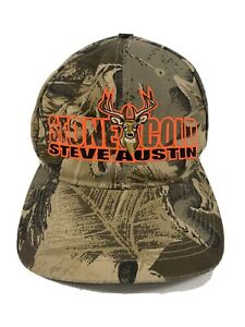 Stone Cold Steve Austin WWF WWE 1998 Attitude Era Camo Vintage Snapback Hat
