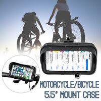 5.5'' Sac Etui Cas Moto Vélo Scooter Support Pr Universel Téléphone GPS