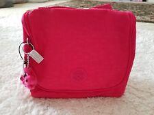Kipling Kichirou Insulated Lunch Bag Vibrant Pink Furry Monkey Keychain NWT