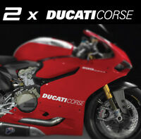 2 x DUCATI CORSE side fairing vinyl stickers decals 899 1299 1199 Panigale S R