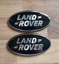 LAND ROVER DISCOVERY 3 BLACK AND SILVER GRILLE & BACK REAR OVAL BADGE SET PAIR