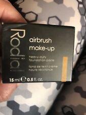 Rodial Airbrush Make-up Heavy Duty Foundation Paste 15ml 04 tan/dark boxed new
