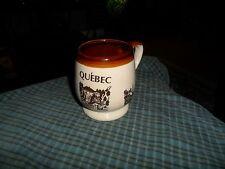 Vintage QUEBEC Travel Souvenir Ceramic Mug Coffee Cup