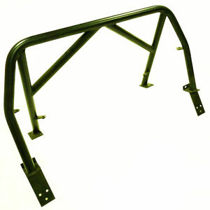 OBX-R Black Painted Steel Double Diagonal Roll Bar For 99-05 Miata MX5 (1Pc)