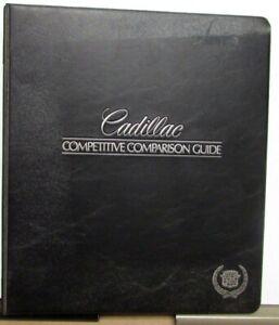 1988 Cadillac Competitive Comparison Guide Dealers Album Allante