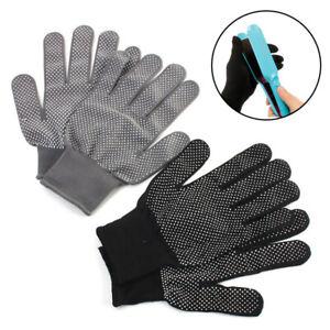 1 Pair Heat Proof Resistant Protective Glove Hair Curler Straightener ! B
