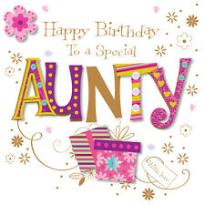 Special Aunty Happy Birthday Greeting Card By Talking Pictures Cards
