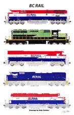 "BC Rail Locomotives 11""x17"" Poster Andy Fletcher signed"