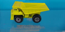 J-150- ROAD CHAMPS 1984 YELLOW DUMP TRUCK MADE HONG KONG IN EXCELLENT CONDITION