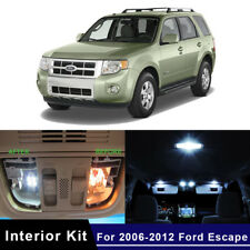 12x LED White Map Dome Car Lights Interior Package Kit For 2006-2012 Ford Escape
