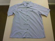 087 Mens Kathmandu Pale Grey / BLK Micro Check S/s Trek Shirt LRG .