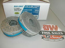 """Duo Fast Coil Nails 1 7/8"""" Inch Ring Shank ACQ Hot Dip Galvanized Zero Degree"""