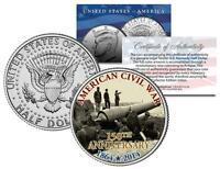 AMERICAN CIVIL WAR - 150th Anniversary * Fort * JFK Kennedy Half Dollar US Coin