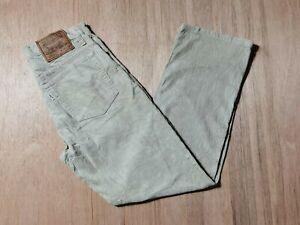 Vintage Levi's 515-15 Beige Corduroy W25 L27 Jeans Trouser Pants Zip Fly