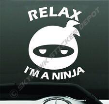 Relax Im A Ninja Funny Bumper Sticker Vinyl Decal Car Truck JDM Honda Cute Japan