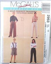 McCall 2953 Sewing Pattern Classic Fit Perfect Trousers Slacks Suit Pants Sz 12