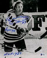 Beckett-BAS Autographed Signed The Hanson Brothers Slap Shot Movie Photo Photograph Signed by Steve Carlson #17 Im Listening to The Song!