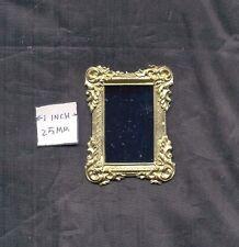 Mirror Gilded / Gold - 1/12 scale dollhouse metal miniature  ISL3258