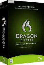 Dragon Dictate 2.0 for Mac OS X Speech Recognition Software with Headset & MIc