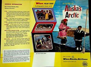 Explore Alaska's Arctic Wien Alaska Airlines 1959 Brochure Flight