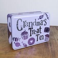 Grandma's TRATTAMENTO TIN stoccaggio regalo divertente il lato BRILLANTE NUOVO