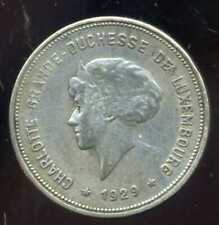 LUXEMBOURG     5 francs 1929  ( ARGENT )   ( bis )
